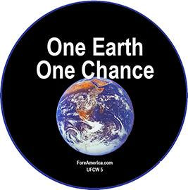 One Earth One Chance Pin