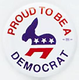 Proud To Be A Democrat Pin