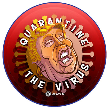 Quarantine The Virus Pin