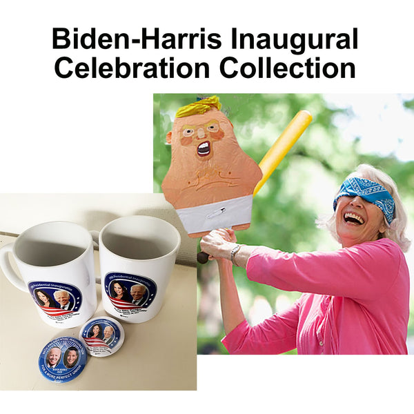 Inaugural Celebration Collection (2 mugs, 2 pins & a Baby Trump Pinata)