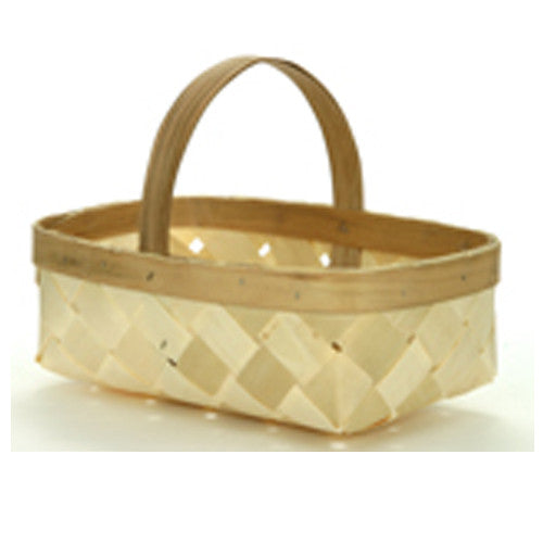 Natural wooden berry baskets with Handle are an adorable party favor