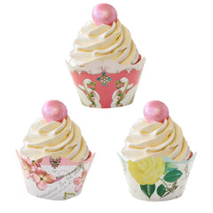 Tea Party cupcake wrappers with 3 designs