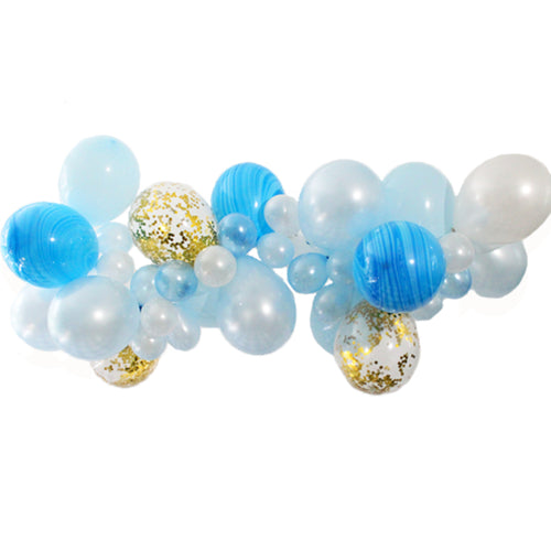 Blue Balloon Garland