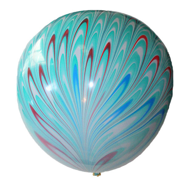 Peacock Balloons Blue