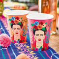 BOHO FRIDA FIESTA CUPS FLORAL COLORFUL CUPS IDEAL FOR A FIESTA BIRTHDAY PARTY