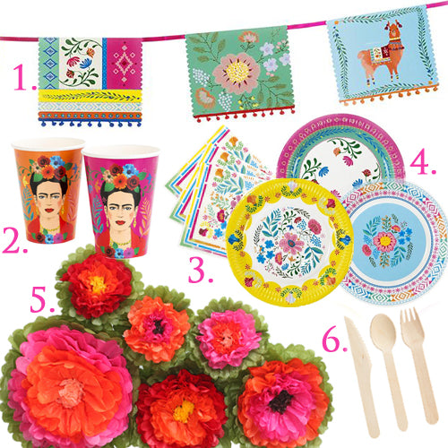 Boho Fiesta Party in a Box for 12