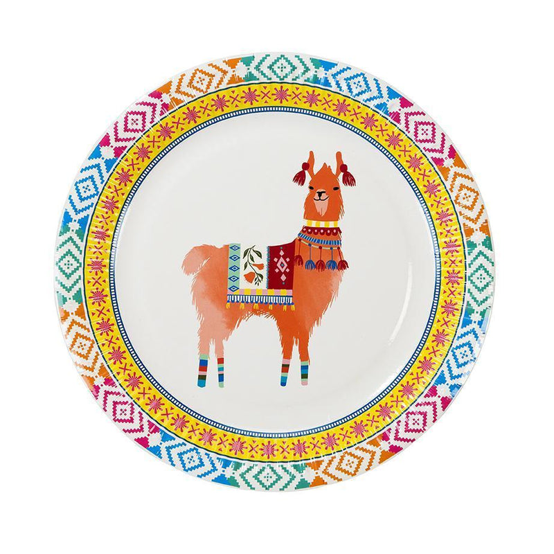 BOHO LLAMA FIESTA PLATES FLORAL COLORFUL CUPS IDEAL FOR A FIESTA BIRTHDAY PARTY