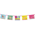 BOHO FIESTA  POM POMS BANNER FLORAL COLORFUL CUPS IDEAL FOR A FIESTA BIRTHDAY PARTY