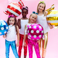 Candy Foil Balloons - Set of 6