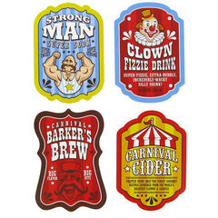 Circus Soda Bottle Labels
