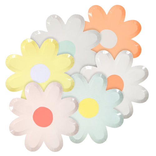 Daisy Party Plates Ideal for a floral or spring floral birthday party