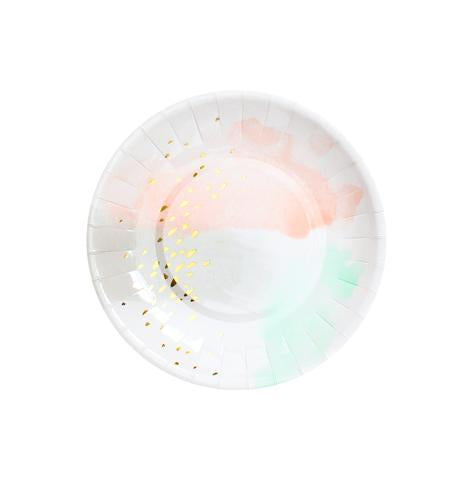 Watercolor Small Party Plates