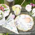 Fairy plates, Napkins and cups with floral and butterflies fairy design.