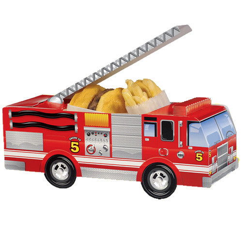 Fire Engine party favor boxes perfect  for your kids' Firefighter Birthdays Party.