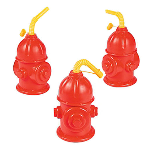 Fire Hydrant Cups ideal for firefighter birthday party, also could be use as a party favor