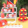 Fire Hydrant Cupcake Stand for firefighter birthday party