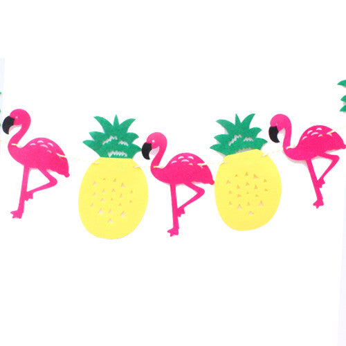 Flamingo & Pineapple Banner