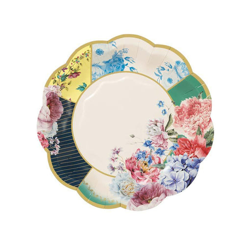 FLORAL TEA PARTY PLATES - SMALL