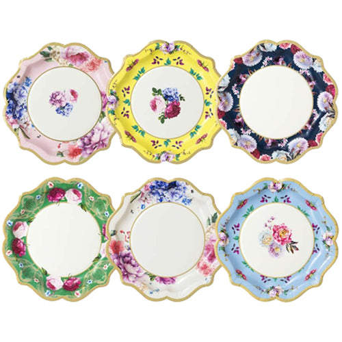 FLORAL TEA PARTY PLATES - MEDIUM