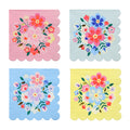 FLORAL PARTY NAPKINS IDEAL FOR A FLORAL OR FIESTA BIRTHDAY PARTY