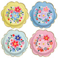 FLORAL PARTY PLATES IDEAL FOR A FLORAL OR FIESTA BIRTHDAY PARTY