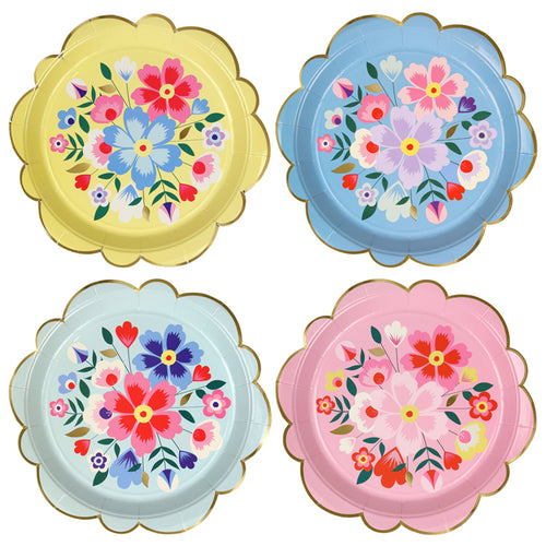 Floral Party Plates