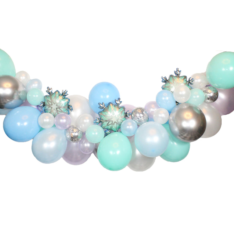 Winter Wonderland Balloon Garland, Frozen Balloon Garland