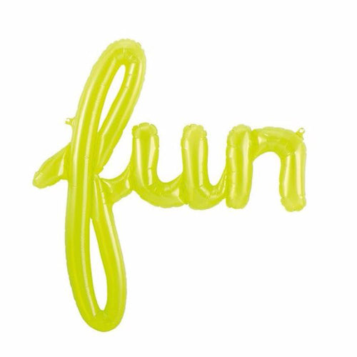 Fun Script Green Balloon