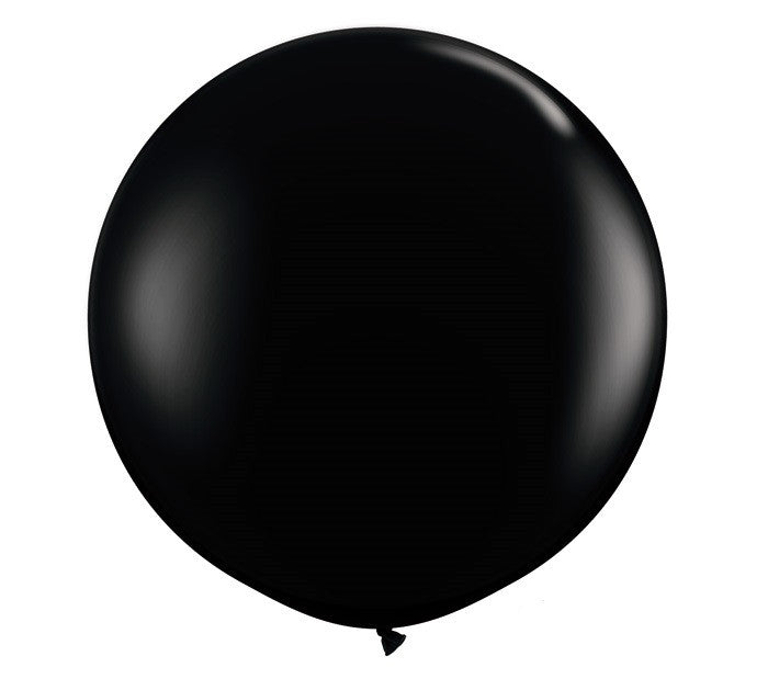 Giant Round Balloons Black Halloween Party - Wicked Cute Halloween Party - Mysterious Soiree Ninja Party Halloween Party Essentials