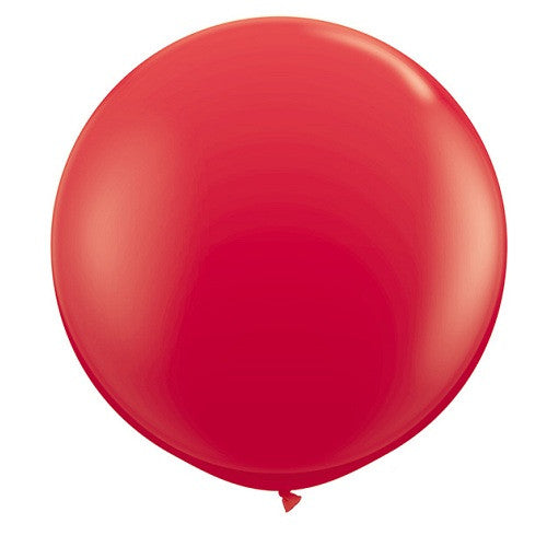 Giant Round Balloons Red Farm Party 4th of July Party Ninja Party Carnival Party