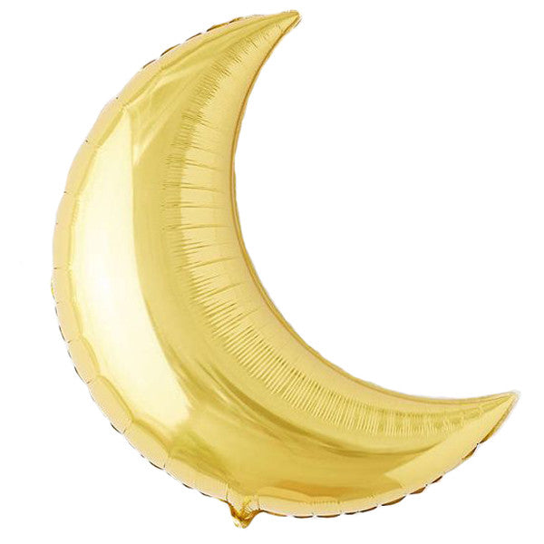Giant Crescent Moon Balloon 26 inches Foil Balloons Gold Halloween Party Essentials Nutcracker Party Unicorn Party Gold Baby Shower GirlBaby Shower
