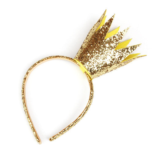 Gold Crown Headband