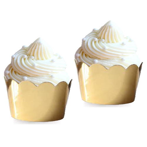 Cupcake Wrappers - Gold