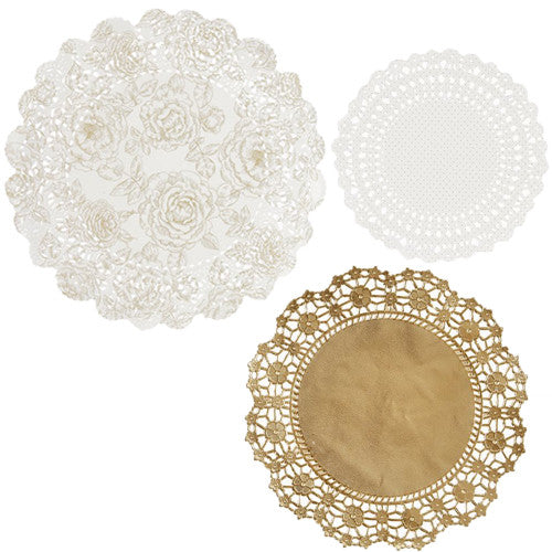 Gold Doilies with floral design