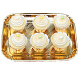 Gold Rectangular Tray (5 per Pack) - Gold rectangular tray perfect for serving sweets on Birthday parties