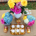 Gold Mini Square Tray and rectangular tray perfect for serving sweets on Birthday parties