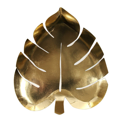Gold Palm Leaf Party Plates