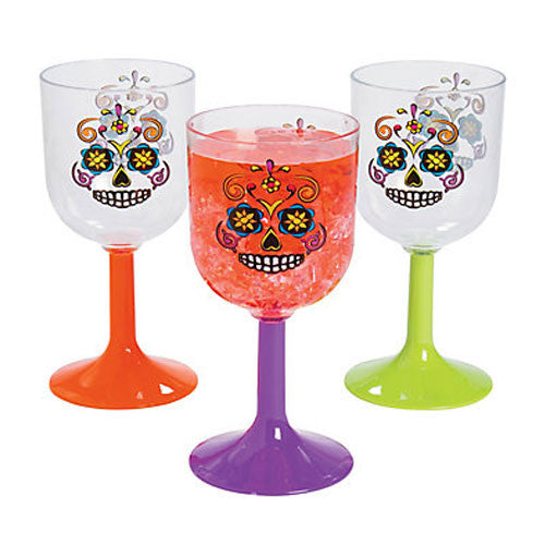 Halloween Sugar Skulls Glasses