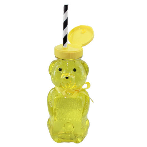 Honey Bear Bottles perfect for a Bumble Bee Birthday Party