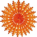 Honeycomb paper Tissue Fans Orange Halloween Party - Wicked Cute Halloween Party Essentials