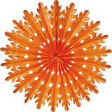 Honeycomb Fan (14 inches) - Orange