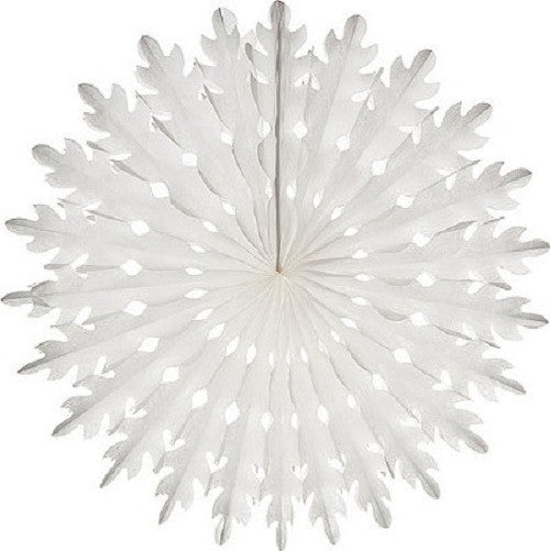 Honeycomb Tissue Fans paper White Princess Party 4th of July Party Christmas Party Nutcracker Party
