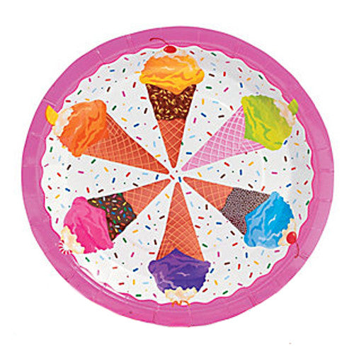 Ice Cream Party Plates