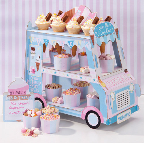 Ice Cream Truck stand for display ice cream cups in Birthday Parties