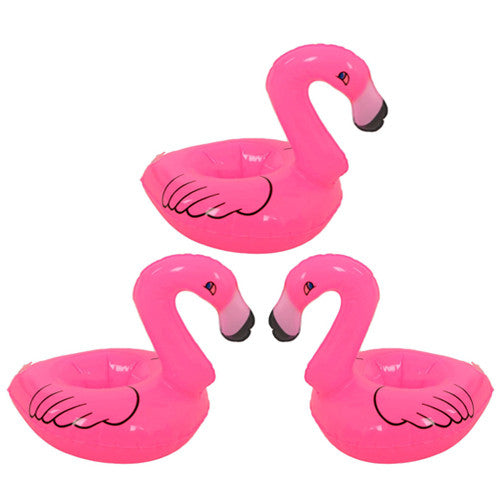 INFLATE FLOATING FLAMINGO COASTERS