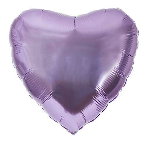 Heart Foil Balloons Lavender Be my Valentine Party Purple