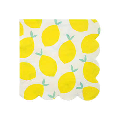 Lemon Party Napkins - Small