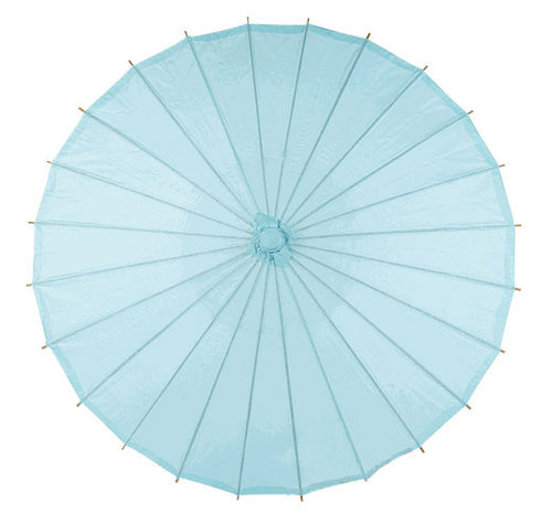 Blue 20 inches paper parasols and bamboo frame
