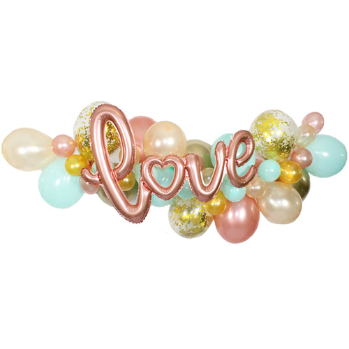 Peaches and Mint Love Balloon Garland Kit