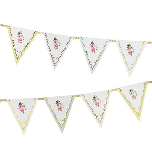 Lovely Tea Party Flag Banner